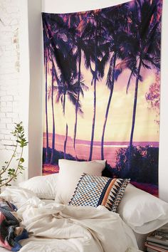 Deb Haugen For DENY Hozier Sunset Tapestry - Urban Outfitters For behind the tv