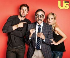 The crazy ones: James Wolk, Robin Williams, and Sarah Michelle Gellar.