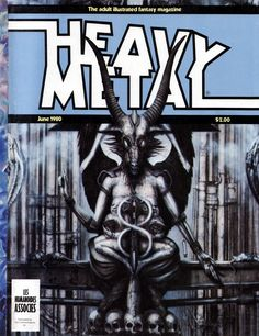 Heavy Metal 06-80 with the Necronomicon book cover featured on it.