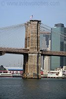 This is the Brooklyn Bridge. It was built in 1869 and was finished 14 years later. This has Gothic Revival Style arches.