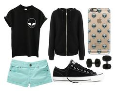 """Alien Week:Tuesday"" by doodlebob3 ❤ liked on Polyvore featuring Converse, BLK DNM, Casetify and Bling Jewelry"