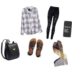flannels. by kidrxuhll on Polyvore featuring Rails, WithChic and Billabong