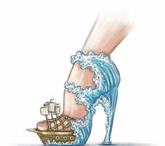 Fashion Design Drawings, Fashion Sketches, Fashion Illustration Shoes, Creative Shoes, Shoe Art, Designer Heels, Painted Shoes, Mode Inspiration, Designs To Draw
