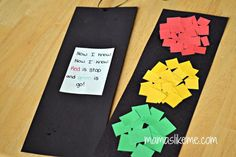 Mamas Like Me: Scissor Practice Stop Light Craft