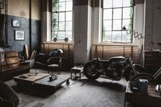 Garage by Hookie Co #motorcycleculture #culturamotera | caferacerpasion.com