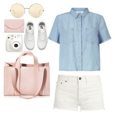 """Casually doing my best"" by theycallmegelly ❤ liked on Polyvore featuring Yves Saint Laurent, Miss Selfridge, Corto Moltedo, Victoria Beckham, Fujifilm, Vans and Kate Spade"