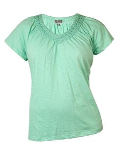 JM Collection Women's Soutache V-Neck Cotton Top -- Quickly view this special  product, click the image : Fashion