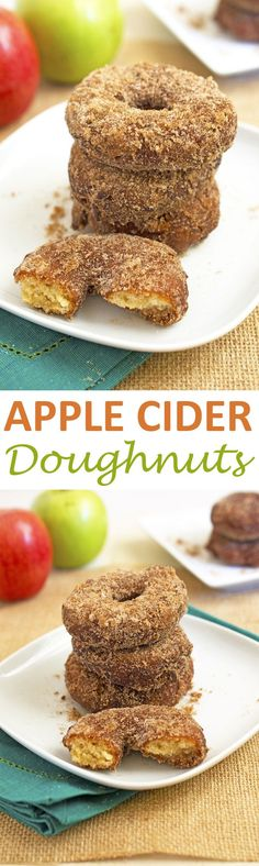 Melt in your mouth Apple Cider Doughnuts made with fresh apple cider. Easy fall doughnut recipe to make at home! | chefsavvy.com #recipe #apple #cider #doughnuts