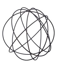 Love this 12'' Tabletop Wire Black Orb on #zulily! #zulilyfinds