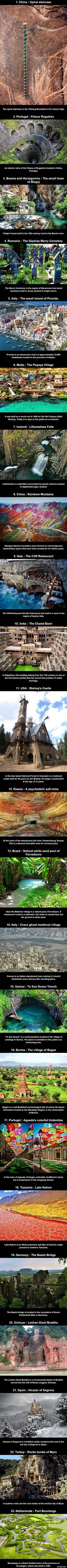 23 places to visit before dying. Take me to all these places now.