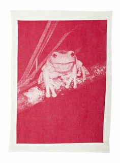 s12_7-Hand-Screen-printed-TeaTowel-Frog-Pink