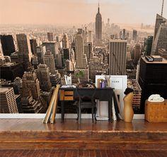Utsikt+over+Manhattan+fra+Rockefeller+Center,+en+klassiker+som+aldri+går+av+moten
