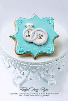 TIFFANY BLUE I DO WEDDING COOKIES