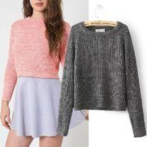 Fashion crop sweater Four colors Size:S,M S: Bust 90  Length 50  M: Bust 94  Length 52