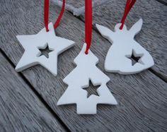4 X Ornaments Weihnachten Clay mit Glocke von MYMIMISTAR auf Etsy