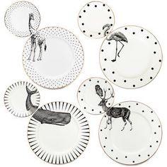Animal Plate Set, repinned by rheingruen.blogsot.de