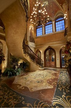The most amazing luxury homes ever: brilliant architecture and brilliant interior design project Classic Decor, Interior And Exterior, Interior Design, Luxury Interior, Modern Interior, Mega Mansions, Rich Home, Grand Staircase, Staircase Ideas