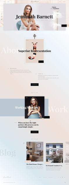 Jemimah Barnett landing page design inspiration - Lapa Ninja Website Design Inspiration, Graphic Design Inspiration, Personal Branding, Personal Website Design, Website Layout, Layout Site, Landing Page Design, Best Web, Branding Design
