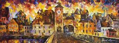 OLD STREET - PALETTE KNIFE Oil Painting On Canvas By Leonid Afremov http://afremov.com/OLD-STREET-PALETTE-KNIFE-Oil-Painting-On-Canvas-By-Leonid-Afremov-Size-28-x40.html?bid=1&partner=20921&utm_medium=/vpin&utm_campaign=v-ADD-YOUR&utm_source=s-vpin