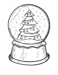 Snow globe with a Christmas tree coloring page & Print. Snow globe with a Christmas tree coloring page & Print. Snowman Coloring Pages, Christmas Tree Coloring Page, Printable Christmas Coloring Pages, Christmas Doodles, Christmas Drawing, Coloring Pages To Print, Noel Christmas, Christmas Printables, Coloring Pages For Kids