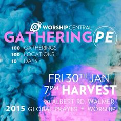 100 GATHERINGS OF WORSHIP GLOBALLY... and we're one of them. Join us this Friday 6.30 for 7pm @harvestcotn