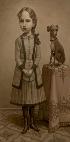 """Girl With a Dog,"" Marion Peck--probably my favorite Peck painting"