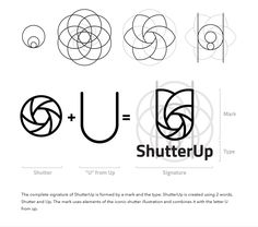 ShutterUp - VogtCreations Graphic Design Tips, Graphic Design Posters, Logo Design Inspiration, Graphic Design Illustration, Film Logo, Construction Logo Design, Logo Sketches, Creative Artwork, Branding Design
