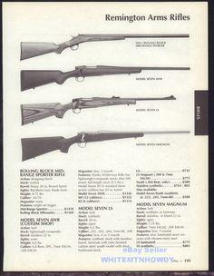 2005 REMINGTON No. 1 Rolling Block, Model 7 AWR, Seven LS & Magnum Rifle AD #Ruger