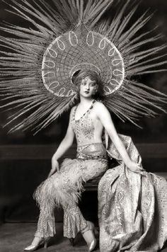 Myrna Darby  Ziegfeld Follies Girl    The Ziegfeld Follies were a series of elaborate theatrical productions on Broadway in New York City from 1907 through 1931.  Inspired by the Folies Bergères of Paris, the Ziegfeld Follies were conceived and mounted by Florenz Ziegfeld    Photography by Alfred Cheney Johnston, the official photographer of the Zeigfeld Follies