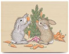 House Mouse-Wood Mounted Stamp-Carrot Tree