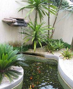 fontes de água no jardim - Pesquisa Google                                                                                                                                                      Mais