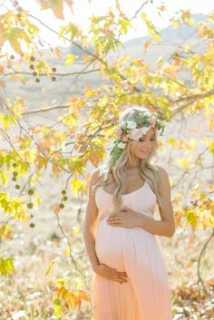 Love this pastel maternity dress