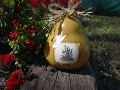 Image detail for -Gourd Art Primitive Bunny Spring Decor Easter by NatsKreations