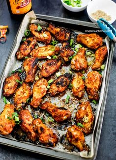 Oven Baked Korean Style Chicken Wings
