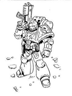 Warhammer 40K Sketches By Nacho Fernandez | Oculoid | Art & Design Inspiration