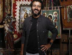 """Marcos Palmeira posa no lançamento de 'Velho Chico': """"A novela se passa em um universo rural que sou completamente apaixonado e me identifico"""", diz (Foto: TV Globo)"""