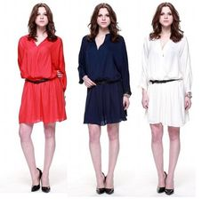 #ZuriZuri By #Flora Women's V Neck Long Sleeve Surplice Blouson Dress color do you think will give you the most sexy look?  Lest see how #fashionable you are!!!