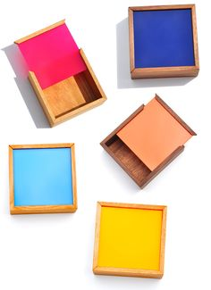 Square Color Chip Box. Store special treasures in these handmade boxes. Crafted…
