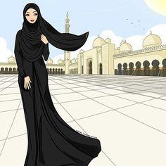 Girly M, Beautiful Muslim Women, Beautiful Hijab, Muslim Girls, Muslim Couples, Hijab Gown, Hijab Drawing, Anime Muslim, Hijab Cartoon