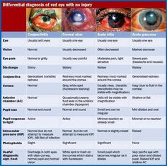 Dora's Nursing blog; Differential Diagnosis of red eye with no injury