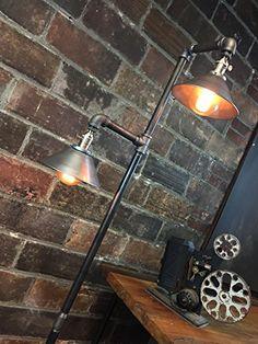 Industrial Floor Lamp Metal Shade Edison by newwineoldbottles Industrial Livingroom, Floor Lamp, Metal Shades, Lamp, Industrial Floor Lamps, Edison Bulb Lamp, Vintage Lamps, Bulb, Vintage Floor Lamp