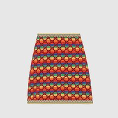Gucci Velvet Rainbow Gg A-line Skirt With Embroidered Details In Multicolour Twice Clothing, Clothing Items, Red Clothing, Wool Mini Skirt, Velvet Skirt, Golden Girls, Stage Outfits, Pink Silk, Outfits