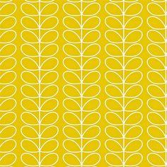 Tapete Linienblätter von Harlequin - Gelb