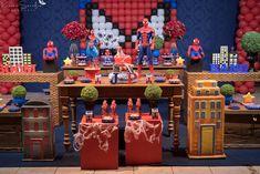 32 Ideias de Decoração Festa Infantil Homem-Aranha #homemaranha #festainfantil Spiderman, Birthday, Party, Snow White, Cheap Party Ideas, Spider Man, Parties, Sleeping Beauty, Birthdays