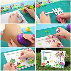 Spring is here. Turn your stay-at-home time into a fun experience, and replicate this colorful project with your loved ones. Diy Craft Projects, Diy Crafts, Spring Scenery, Spring Is Here, First Love, Colorful, Creative, Fun, Inspiration