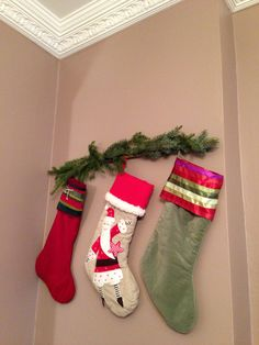 no fireplace great idea to hang christmas stocking on the wall