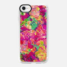 FLORAL FANTASY, PINK YELLOW GREEN, By Artist Julia Di Sano, Ebi Emporium on Casetify, #Casetify #EbiEmporium #CasetifyArtist #pink #floral #flowers #spring #spring2018 #girly #pink #hotpink #lime #green #rainbow #yellow #neon #magenta #blooms #iphonecase #iphone6 #iphone7 #iphone8 #iphonex #iphone6plus #iphone7plus #iphone8plus #samsung #want #musthave #girly #summer #pretty #tech #painting
