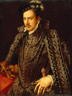Early - 'Portrait of Francis (Hercule Francois, ), Duke of Anjou and Alençon' (France, was the youngest son of Henry II of France and Catherine de' Medici. Renaissance Fashion, Renaissance Clothing, Italian Renaissance, Tudor Fashion, Elizabethan Costume, Elizabethan Era, Elizabethan Fashion, Historical Costume, Historical Clothing