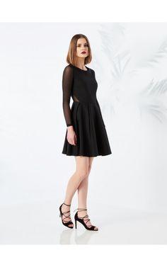 Czarna sukienka, SUKIENKI, KOMBINEZONY, czarny, MOHITO