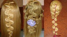 """1,2 y 3 Peinados - Trenza Irregular o """"S"""" ♥♥♥♥♥♥♥ Hairstyles - Braids Ir..."""